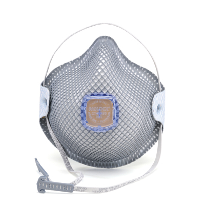 disposable blue-vented respirator face mask