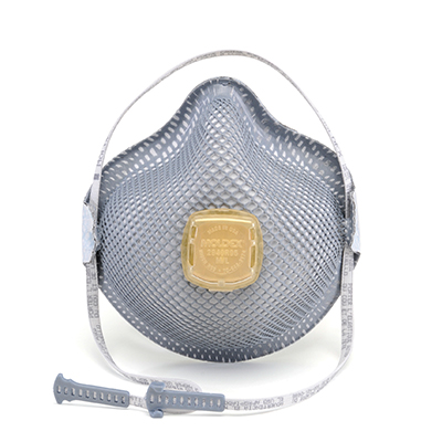 disposable respirator face mask with yellow vent
