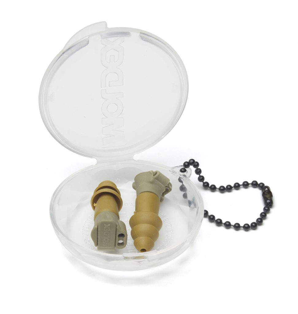 military impulse hearing-protection reusable earplugs in case