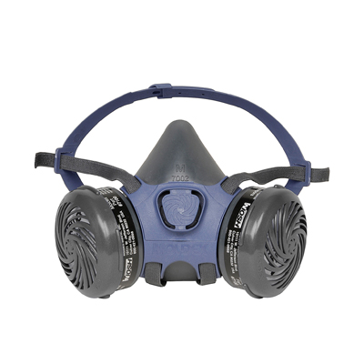 reusable half-face respirator face mask designed for paint or pesticide spray