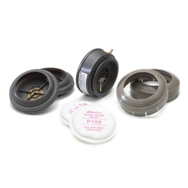 three replacement cartridges and filters perfect for reusable respirator masks