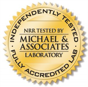 independent-tested NRR-accredited laboratory seal
